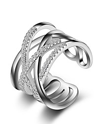 cheap -Women's Silver Plated Ring - Stylish For Wedding Party Party / Evening Casual Sports