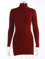abordables -Mujer Vintage Sofisticado Chic de Calle Pullover - Un Color