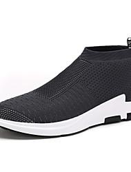 economico -Da uomo Sneakers Comoda Suole leggere Tulle Primavera Estate Autunno Casual Footing Comoda Suole leggere Piatto Nero Grigio Rosso Piatto