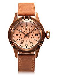 ieftine -Pentru femei ceas mecanic Mecanism automat Calendar Mare Dial Piele Autentică Bandă Vintage Charm Maro