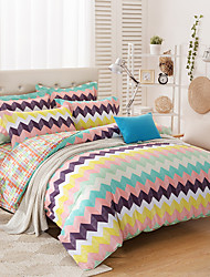 Geometric Duvet Cover 1 Piece Cotton Contemporary Reactive Print Cotton Twin Full Queen 1pc Duvet Cover