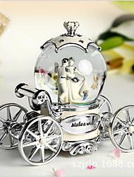 The Wedding Bride Resin Decoration Car Crystal Ball Rotary Music Box Creative Wedding Gift