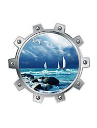 3D Wall Stickers Wall Decals Style At Sea Sailing Boat PVC Wall Stickers