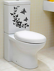 cheap -Abstract Cartoon Wall Stickers Plane Wall Stickers Decorative Wall Stickers Toilet Stickers, Paper Home Decoration Wall Decal Wall Toilet