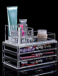 Portable Transparent Makeup Organizer Storage Box Acrylic Make Up Organizer Cosmetic Organizer Makeup Storage Drawers