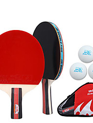2 Stars Table Tennis Rackets Rubber Short Handle Pimples Indoor Performance Leisure Sports