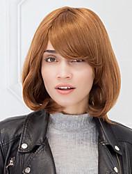 Auburn haircolor naturale senza cappuccio parrucca capelli lisci umano bob taglio di capelli per le ragazze e le donne 2017