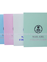 Yw0015 Nail Tool color 120 color high grade nail polish color nail color display board color version of the random distribution