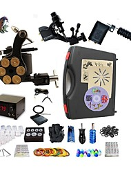 cheap -Professional Tattoo Kit 2 rotary machine liner & shader 1 alloy machine liner & shader 3 Tattoo Machine Inks Not Included