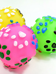 cheap -Cat Toy Dog Toy Pet Toys Ball Chew Toy Interactive Teeth Cleaning Toy Squeak / Squeaking Elastic Dog Durable Footprint Nobbly Wobbly