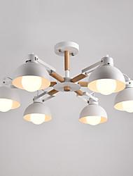 Недорогие -6 головок старинные деревянные арт-деко металлические люстры креативная гостиная столовая кабинет / кабинет