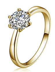 cheap -Women's Ring Crystal Fashion Simple Style Crystal Zircon Cubic Zirconia Imitation Diamond Austria Crystal Alloy Star Jewelry Party Daily