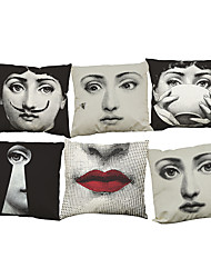 "cheap -Set of 6 Lina Cavalieri Linen Cushion Cover Home Office Sofa  Decorative Pillowcases (18""*18"")"