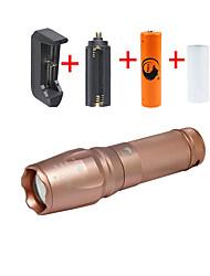 Недорогие -U'King Светодиодные фонари Светодиодная лампа 2000 lm 5 Режим Cree XM-L T6 с батареей и зарядным устройством Масштабируемые Фокусировка