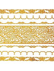 Séries de Jóias Tatuagem Adesiva - Estampado - para Feminino/Girl/Adulto/Adolescente - de Papel - Dourada - #(15x11.5) #(1)