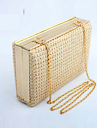 cheap -Women Bags Straw Evening Bag for Wedding Event/Party Casual Formal Office & Career Winter Spring Summer Fall All Seasons Gold Black Beige