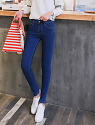 Sign 2017 new high waist significantly thin feet pencil jeans female