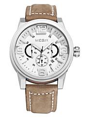 cheap -MEGIR Men's Dress Watch / Wrist Watch Leather Band Luxury / Casual Black / Brown