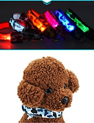 cheap -Cat Dog Collar LED Lights Anti Bark Camouflage Nylon Yellow Red Green Blue Pink