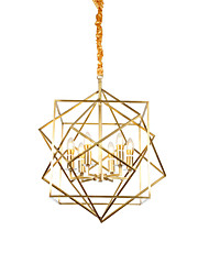 cheap -Chandelier ,  Lantern Brass Feature for Designers Metal Living Room Bedroom Dining Room