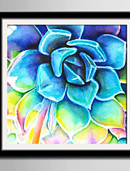 cheap -E-HOME® Framed Canvas Art Blue Cactus Framed Canvas Print One Pcs