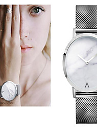 cheap -Women's Wrist Watch Large Dial / Marble Stainless Steel Band Charm / Vintage / Dot Silver / Gold / Rose Gold