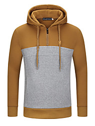 5 Colors High Quality Men's Casual/Daily Simple Hoodie Print Round Neck Micro-elastic Cotton Long Sleeve Spring Fall Hot Sale