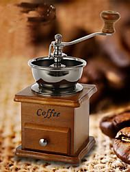 Vintage Style Coffee Grinder Spice Hand Grinding Machine Hand-crank Roller Drive Grain Burr Mill Coffee Machine