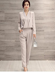 cheap -Women's Going out / Formal / Work Casual / Street chic Fall / Winter Set Pant