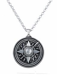 Pánské Dámské Náhrdelníky s přívěšky Šperky Circle Shape Flower Shape Slitina Kruhy Jedinečný design Logo Visací Šperky Pro