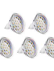 GU5.3(MR16) LED Spotlight MR16 15 SMD 2835 300lm Warm White 3000K DC 12 AC 12V