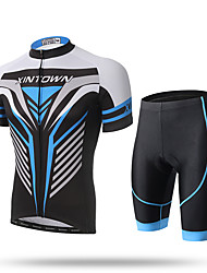 cheap -XINTOWN Cycling Jersey with Shorts Men's Short Sleeves Bike Jersey Shorts Clothing Suits Quick Dry Front Zipper Breathable Soft 3D Pad