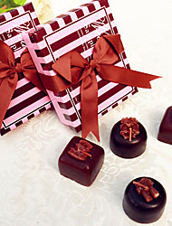 10box/Set - Chocolate Tealight Candle Favor Set  Wedding Reception