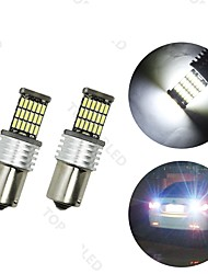 cheap -4pcs BA15S(1156) Car Light Bulbs 6 W SMD 4014 700 lm LED Tail Light For universal