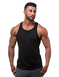 cheap -Men's Daily Sports Beach Casual Active Summer All Seasons Tank Top,Solid U Neck Sleeveless Cotton Thin