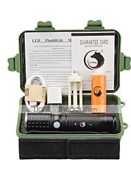 economico -U'King Torce LED LED 2000 lm 3 Modo Cree XM-L T6 con batteria e adattatore Zoom disponibile Messa a fuoco regolabile Ricaricabile