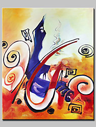 Hand Painted Modern Abstract Music Notation Oil Painting On Canvas Wall Art Pictures For Home Decoration Ready To Hang