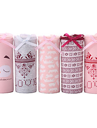 5 Pcs/Lot Women's Cute Print Underwear Seamless Panties Cotton Spandex Briefs