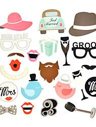 Mariage Fiançailles Saint Valentin office Party Fête de Mariage Papier cartonné Décorations de Mariage Thème plage Thème jardin Thème