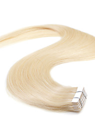cheap -Neitsi 20'' 50g Tape in Human Hair Extensions 5A Grade 20Pcs Straight Skin Weft Extensions  Blonde#613