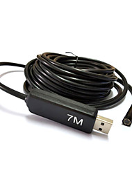 7m fotocamera USB periscopio dell'endoscopio serpente lente 7 millimetri 6 led di controllo impermeabile per PC