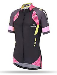 economico -XINTOWN Maglia da ciclismo Per donna Manica corta Bicicletta Top Asciugatura rapida Traspirante Tasca posteriore Comodo Terital Primavera