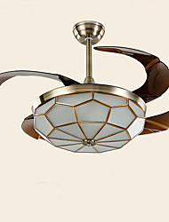 cheap -40W Pendant Light ,  Traditional/Classic Painting Feature for Mini Style Wood/BambooLiving Room / Bedroom / Dining Room / Study