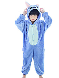 cheap -Kigurumi Pajamas Anime Blue Monster Onesie Pajamas Costume Coral fleece Blue Rose Cosplay For Kid Animal Sleepwear Cartoon Halloween