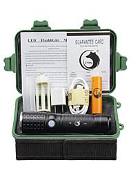 preiswerte -U'King LED Taschenlampen LED 2000 lm 3 Modus Cree XM-L T6 inklusive Batterie und Adapter Zoomable- einstellbarer Fokus Wiederaufladbar