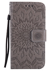 cheap -For Samsung Galaxy A5 A3 2017 PU Leather Material Sun Flower Pattern Embossed Phone Case A5 A3 2016