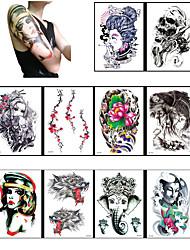 Недорогие -10 Временные тату Прочее Non ToxicРебенок Для детей Женский Мужской Подростки Вспышка татуировки Временные татуировки