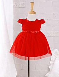 Baby Daily Solid Dress Cotton Nylon Summer Dress