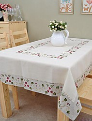 cheap -Embroidered Tablecloth Classical Linen Tablecloth Vintage Vase Table Cover 135x175cm For sale