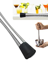 1Pcs  New Cocktail Muddler Stainless Steel Bar Mixer Barware Mojito Cocktail Diy Drink Fruit Muddler Crushed Ice Barware Bar Tool